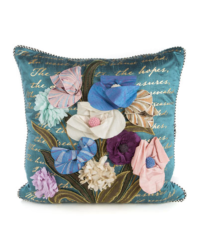 Bronte Poetry Square Pillow