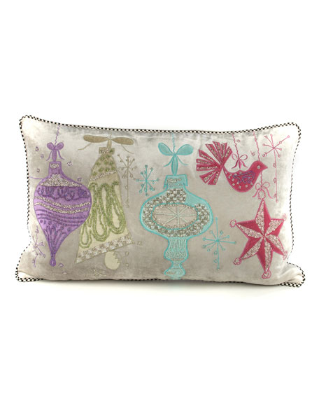 MacKenzie-Childs Glimmer Glass Lumbar Pillow
