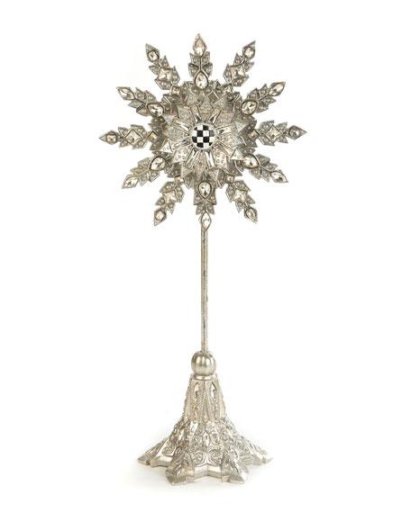 MacKenzie-Childs Snowflake Small Pedestal