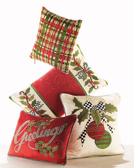 MacKenzie-Childs Cascading Ornaments Pillow