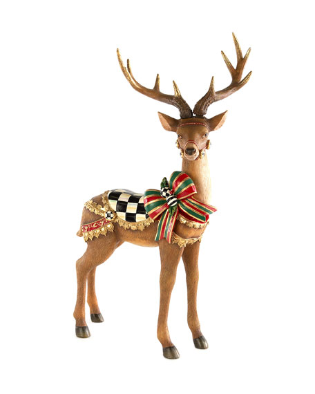MacKenzie-Childs Brown Bow Tie Deer Standing