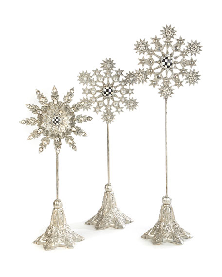 MacKenzie-Childs Snowflake Large Pedestal