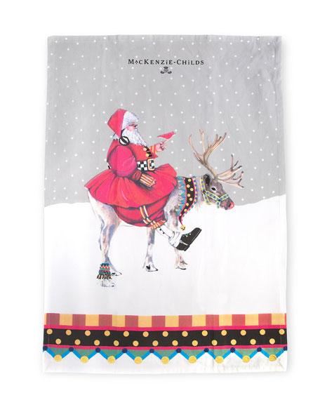 MacKenzie-Childs Olde Time Santa Dish Towel
