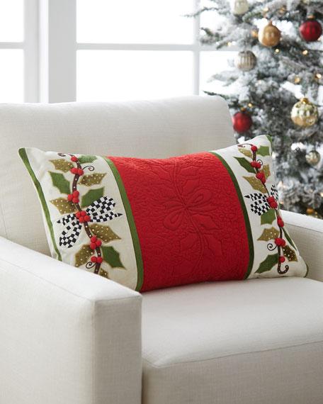 MacKenzie-Childs Mistletoe Lumbar Pillow
