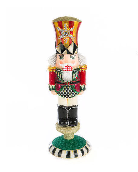 MacKenzie-Childs Nutcracker Reflector Glass Figurine