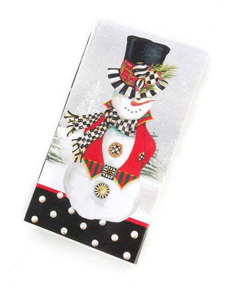 MacKenzie-Childs Top Hat Snowman Paper Guest Napkins