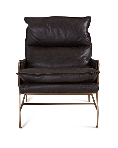 Image 2 of 3: Aria Leather Lounge Chair