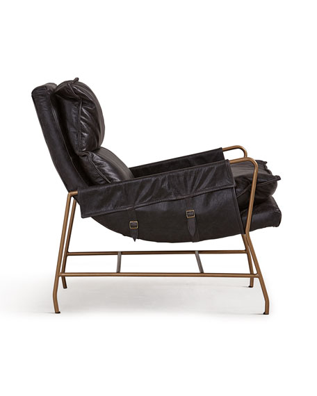 Image 3 of 3: Aria Leather Lounge Chair
