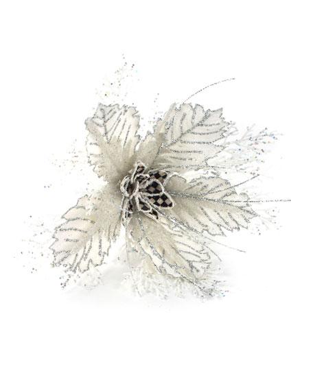 MacKenzie-Childs Snowfall Flower Clip