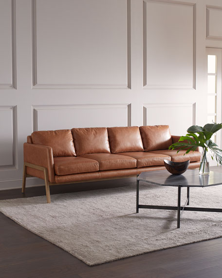 """Deidre Leather Sofa, 92.5"""""""