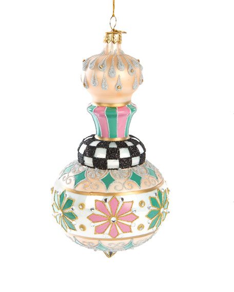 MacKenzie-Childs Home Sweet Snow Cupola Glass Ornament