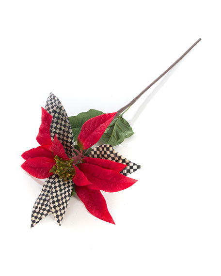 MacKenzie-Childs Courtly Check Red Poinsettia Pick