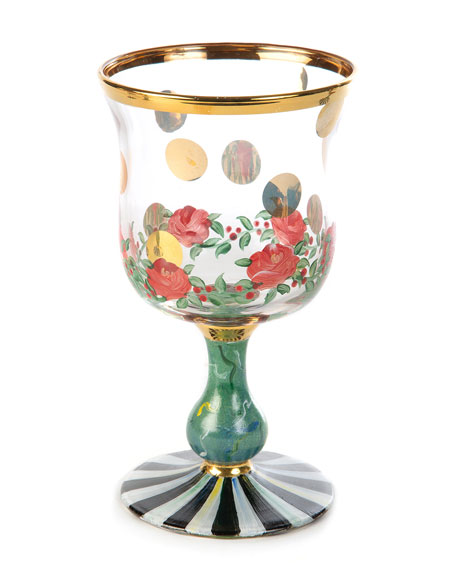 MacKenzie-Childs Heirloom Water Glass
