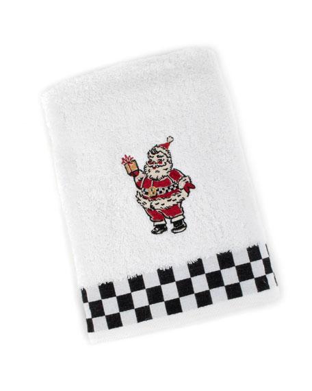 MacKenzie-Childs Vintage Santa Hand Towel