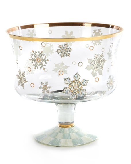 MacKenzie-Childs Snowfall Trifle Bowl
