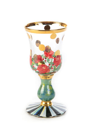 MacKenzie-Childs Heirloom Cordial Glass