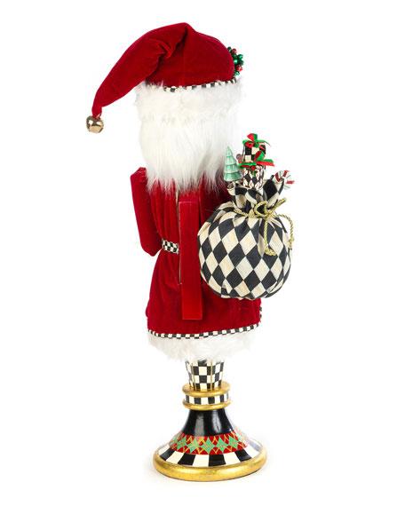 MacKenzie-Childs Father Christmas Pedestal Nutcracker