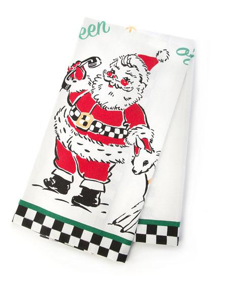 MacKenzie-Childs Santas Calling Dish Towel