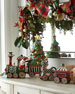 MacKenzie-Childs NM Christmas Train Tea Set