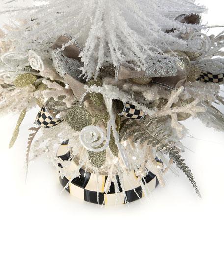 MacKenzie-Childs Home Sweet Snow Tabletop Tree