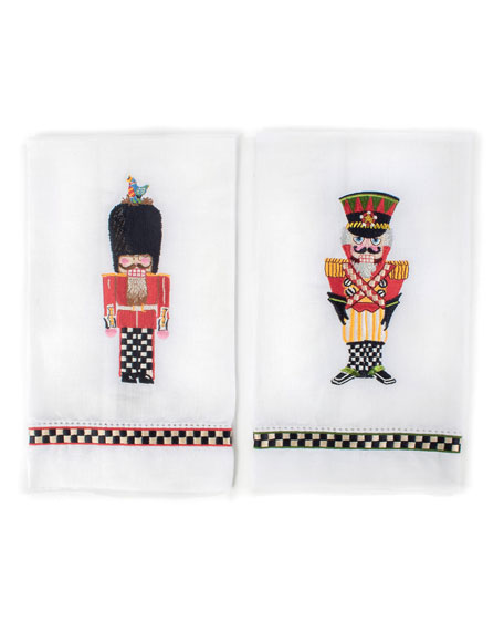 MacKenzie-Childs Palace Guards Guest Towels, Set of 2