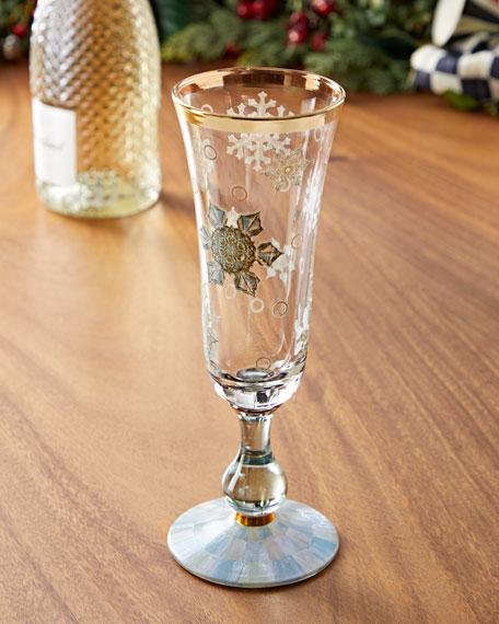MacKenzie-Childs Snowfall Champagne Flute