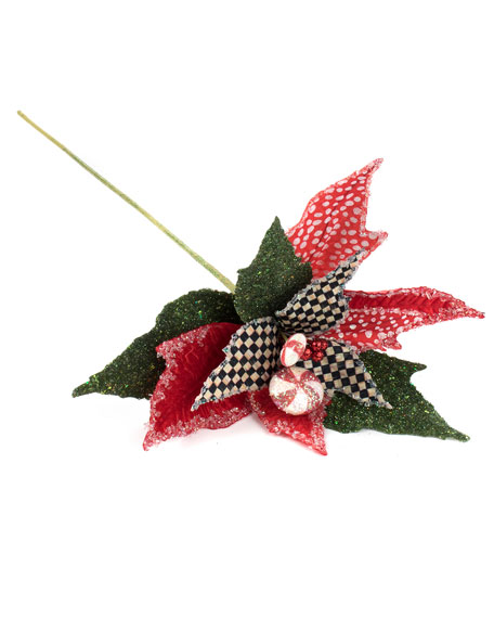 MacKenzie-Childs Peppermint Poinsettia Stem