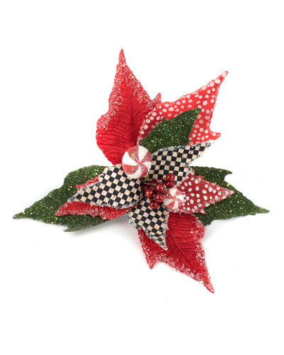 Peppermint Poinsettia Clip