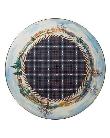 MacKenzie-Childs Highbanks Large Pedestal Platter