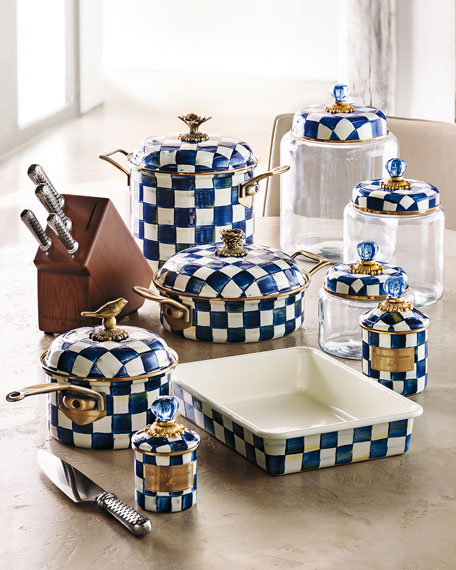 MacKenzie-Childs Royal Check Kitchen Canister
