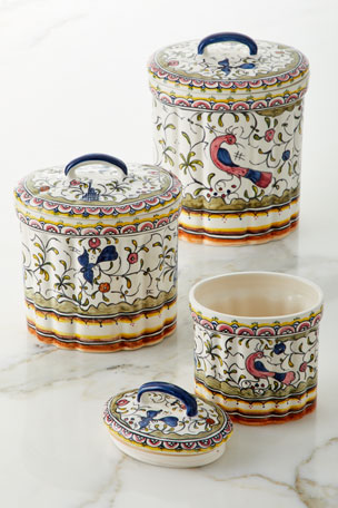Neiman Marcus Pavoes Canisters, Set of 3
