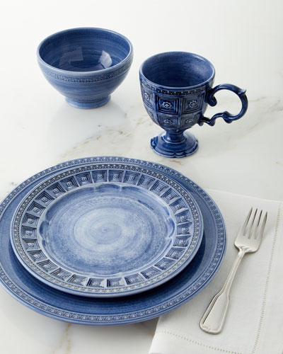 Chambray Tile 16-Piece Dinnerware Set