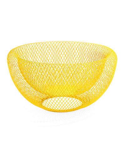 Wire Mesh Bowl, Yellow