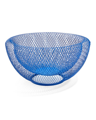 Wire Mesh Bowl, Blue