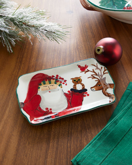 Vietri 2019 Limited Edition Old St. Nick Rectangular Plate