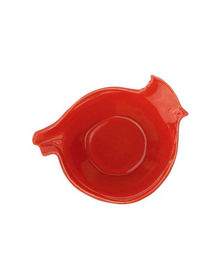 Vietri Lastra Holiday Figural Red Bird Small Bowl