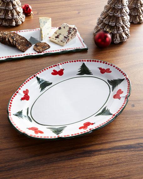 Vietri Uccello Rossa Oval Platter