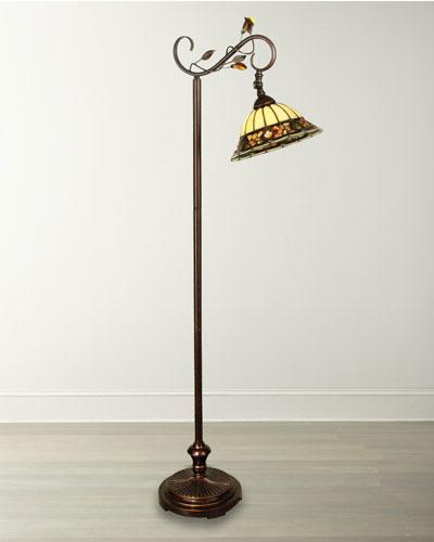 Pebble Stone Tiffany Downbridge Floor Lamp