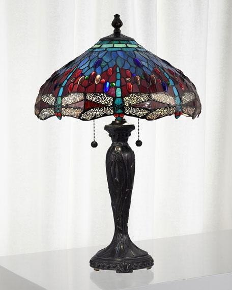 Dale Tiffany Gilder Dragonfly Tiffany Lamp