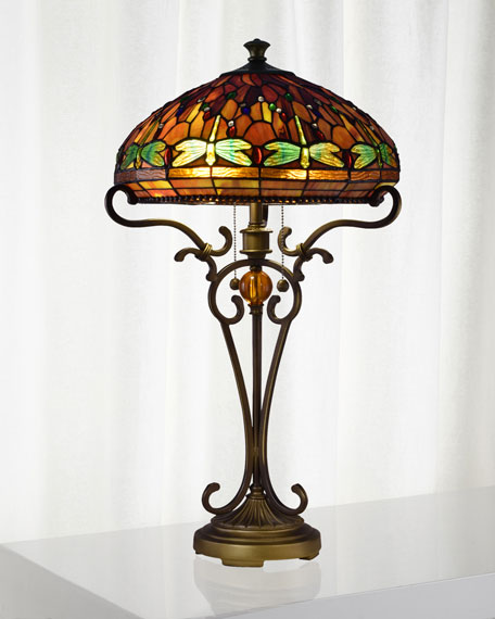Dale Tiffany Dragonfly Tiffany Table Lamp