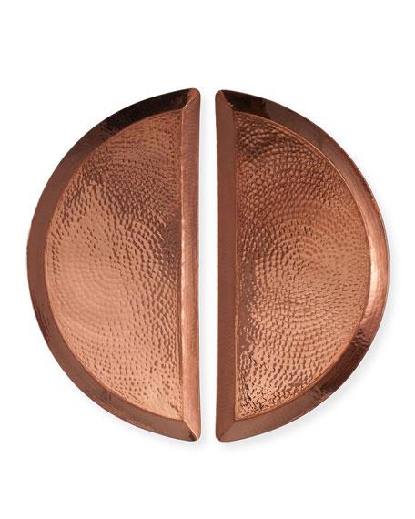 Sertodo Copper Half Moon Trays, Set of 2