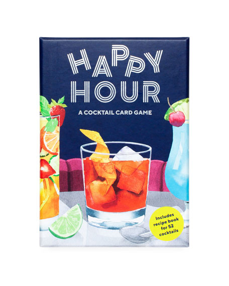 Image 1 of 3: Chronicle Books Happy Hour Cocktail Card Game