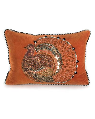 Thanksgiving Turkey Lumbar Pillow