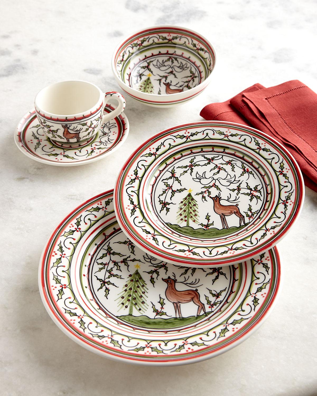 Christmas Dinnerware.Christmas Pavoes 20 Piece Dinnerware Set