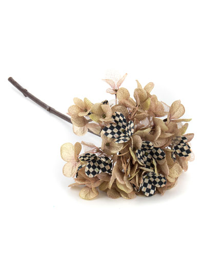 Courtly Check Gold Hydrangea Stem