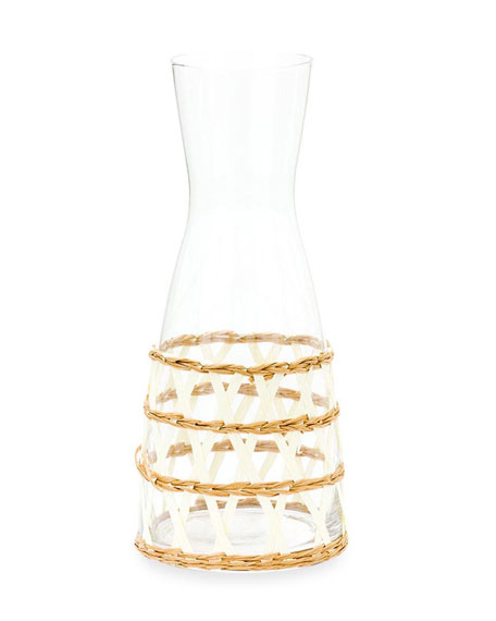 Amanda Lindroth White Seagrass Wrapped Carafe