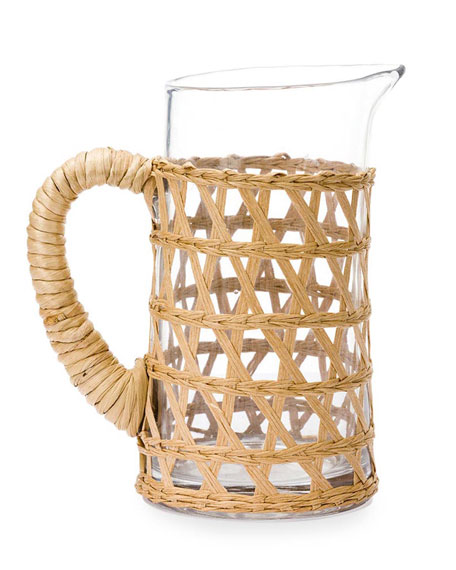Amanda Lindroth Natural Seagrass Wrapped Pitcher, Small