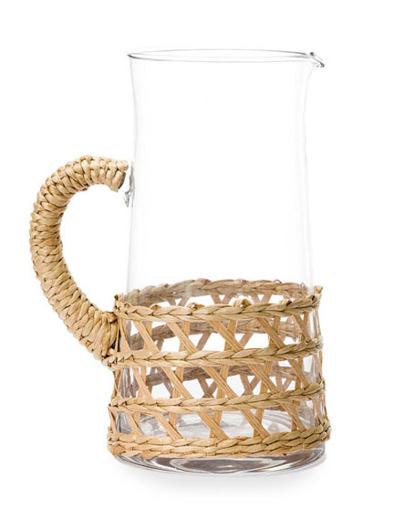 Amanda Lindroth Natural Seagrass Wrapped Pitcher, Large