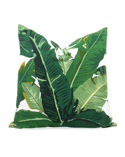 Botanical Leaf Indoor/Outdoor Throw Pillow