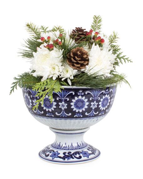 8 Oak Lane Decorative Porcelain Fruit Bowl